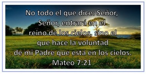 Mateo 7 21